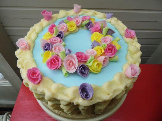 Buttermilk birthday cake, icing tutorial. The Nest | Baking Day ...