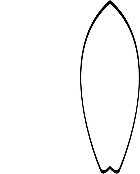 White Surfboard Clip Art at Clker.com - vector clip art online ...