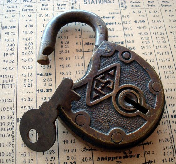 Vintage padlock... I've always wanted one of these.