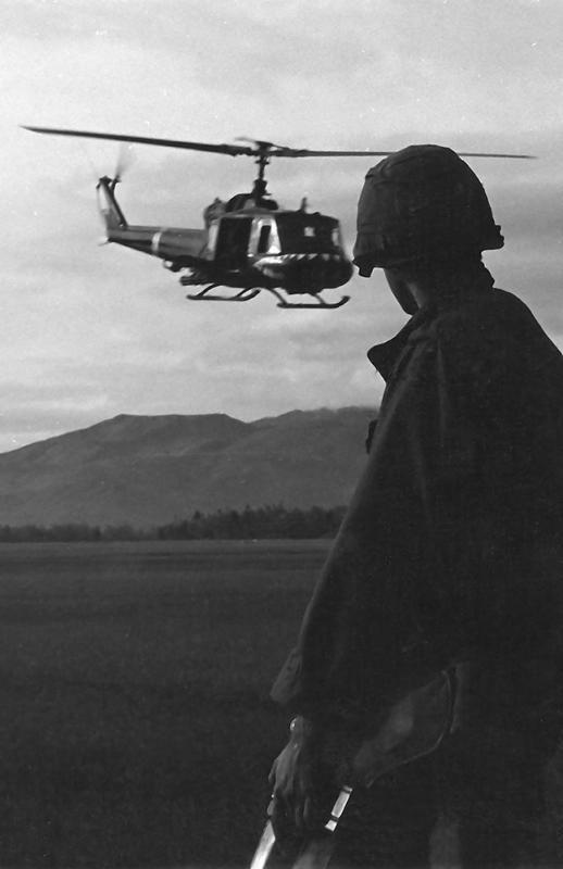 by Richard Calmes   chopper   helicopter   war   vietnam   wartime   casualties   soldier   gun   black & white   frontline   aid  