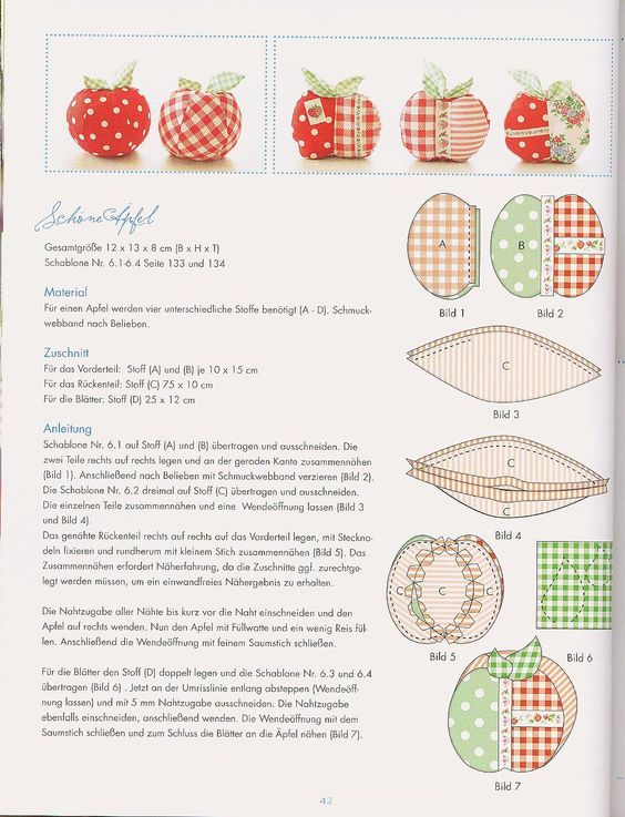 How to make an apple pincushion ~ and other ... - Bakercourt