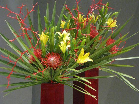 Hardy orange, lilies, and protea