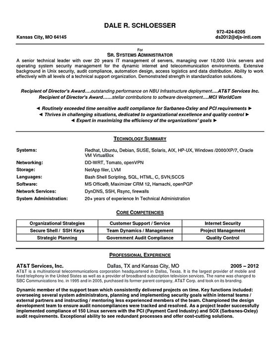 Network Administrator Resume Template Here Are Systems Administrator