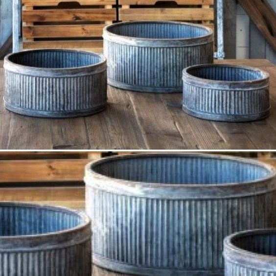 nice Farm Shop Round Metal Planter, Set of 3... by http://www.best100-homedecorpictures.us/home-decor-accessories/farm-shop-round-metal-planter-set-of-3/