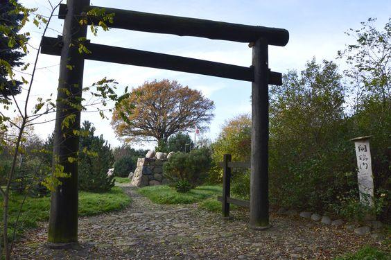 Tor des fliegenden Kranichs (Shokaku-Mon) im Deutsch-Japanischen Hain Todendorf bei Teterow. | Foto: © hcr