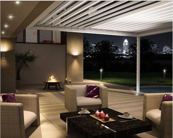 Abends draußen sitzen und den Ausblick genießen.  Nur mit Fledmex Terrassenüberdachung