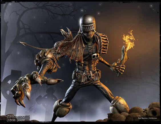 Judge Death: 3D Digital, 3D Characters, Art Sculpture, 3D Sculpture, 3D Art, 2009 Judge