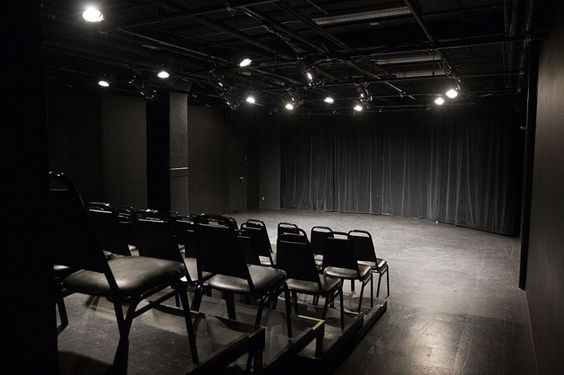 very small, intimate black box for staging
