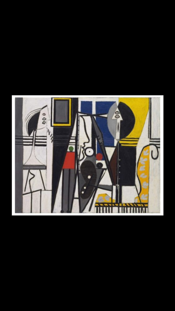 """Pablo Picasso - """" Painter and Model """", Paris 1928 - Oil on canvas - 129,8 x 163 cm - MoMA, New York (..)"""