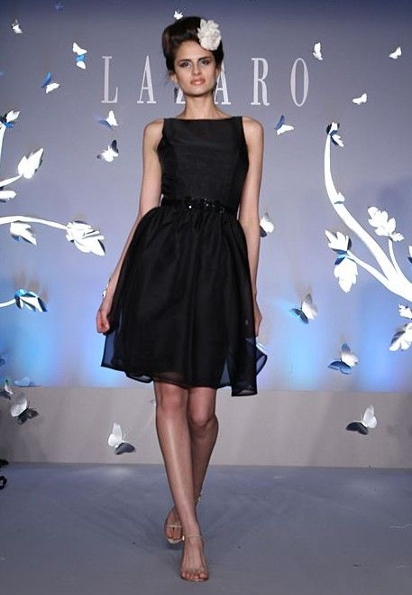 Image detail for 2012 lazaro black bridesmaid dress for How much is a lazaro wedding dress