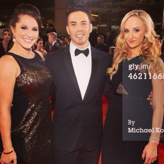 Carly Patterson, Apolo Ohno and Nastia Liukin, 2 gymnasts and 1 speed skater