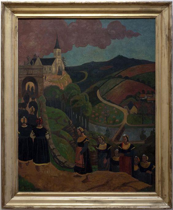 Paul Serusier, 1894, le pardon de Notre-Dame des Portes à Châteauneuf du Faou. Visible au musée des Beaux-arts de Quimper