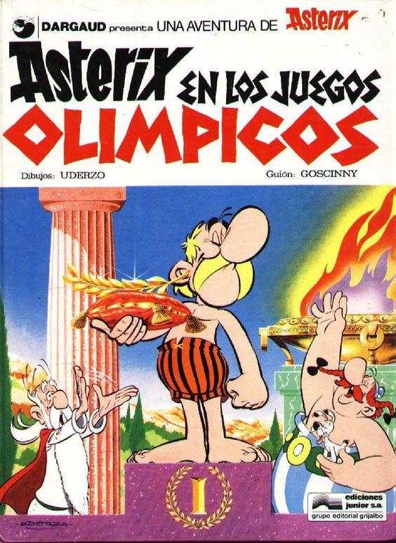 Asterix en los juegos Olímpicos. Esta vez las aventuras de nuestros galos más irreductibles nos llevan hasta la sacrosanta Olimpia, cuna de los juegos que llevan su nombre. No dejéis de leer este cómic para ver con humor los diferentes momentos de los Juegos Olímpicos en la Antigüedad