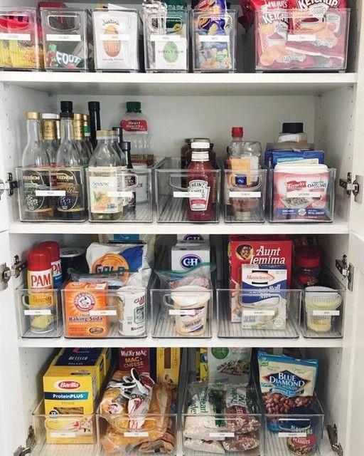 Pin By Om Shanti Guide On Home Organization Deep Pantry Organization Small Pantry Organization Kitchen Cupboard Organization