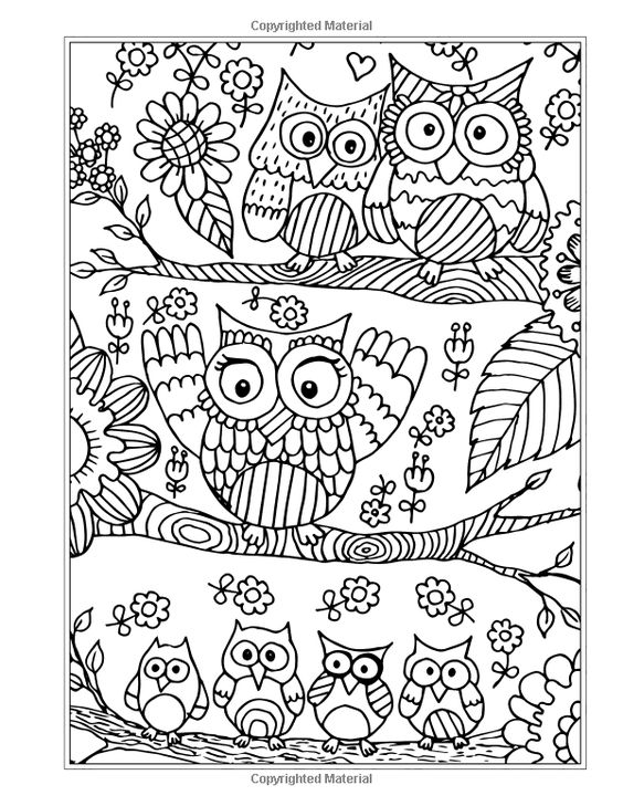 owl abstract coloring pages - photo#11