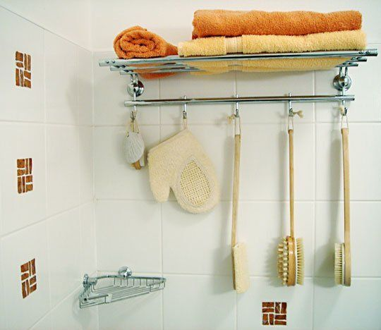 Towel Rack inside the shower | Apartment Therapy