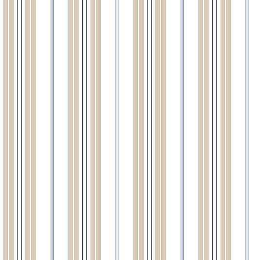 Bliss Dollhouse Wallpaper: Stripe Wallpaper, Taupe And Navy Stripes On Pinterest