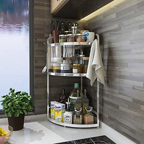 Kitchen Shelf Kitchen Corner Shelf Shelves Corner Basket Rack Stainless Steel Corner Shelf Organizer Mounted