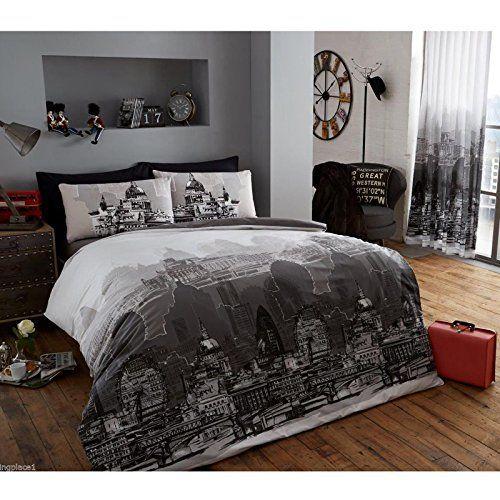 City Scape Skyline Queen Size Comforter Cover Bed Linen Set T A Textiles  http. City Scape Skyline Queen Size Comforter Cover Bed Linen Set T A