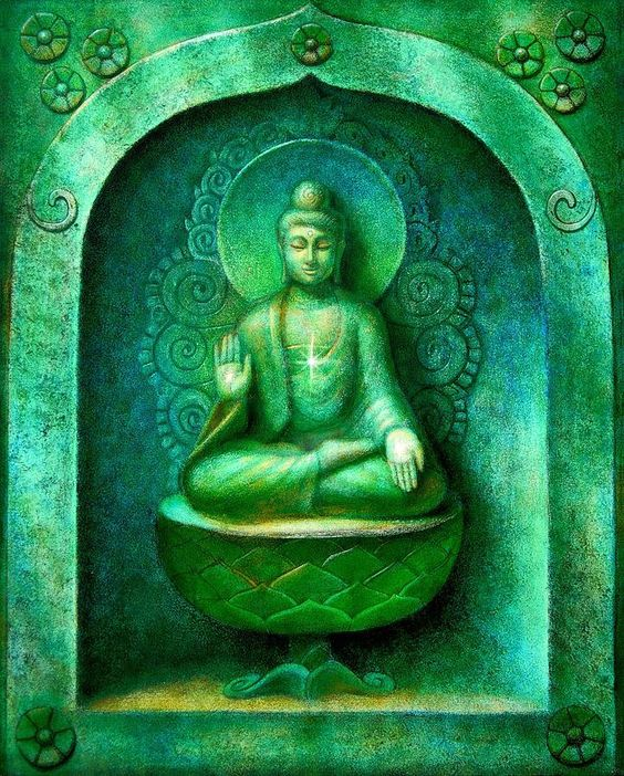 amazing green buddha.