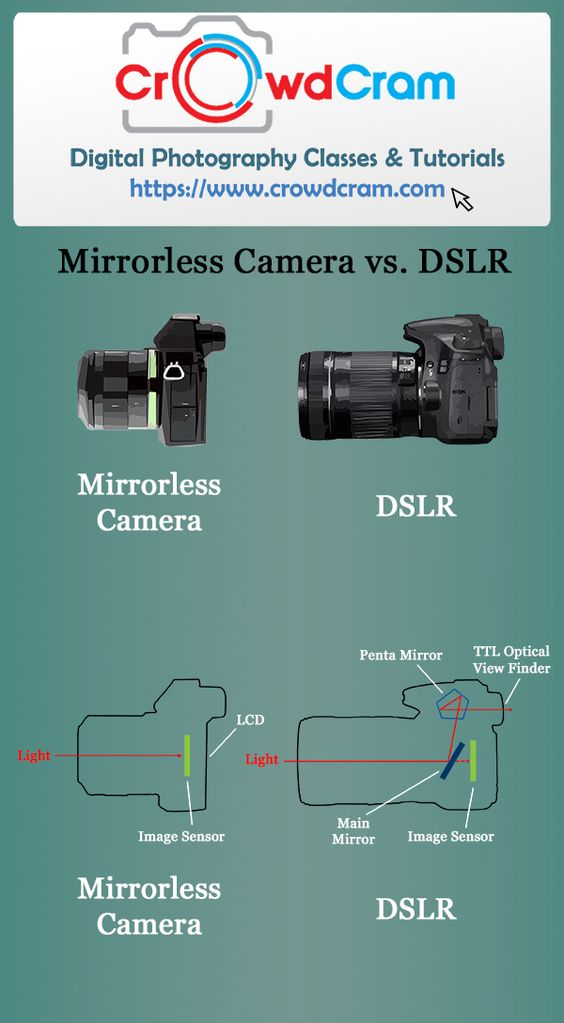 Mirrorless Camera vs. DSLR