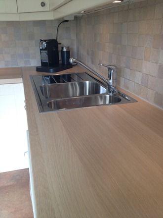 Ekbacken lys eik ikea laminat benkeplate kitchen ideas for Laminat ikea