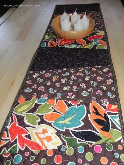 2 Hour Stack and Slash Table Runner - Decorate your table and learn how to quilt with this table runner pattern.