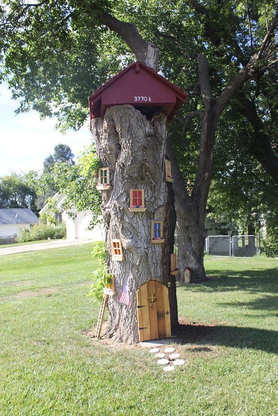 Fairy Tree, Tree Stumps And Trees On Pinterest
