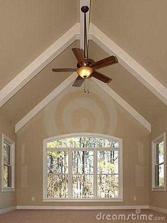 Neutral plus white beams vaulted ceiling new cottage for How to paint a cathedral ceiling room