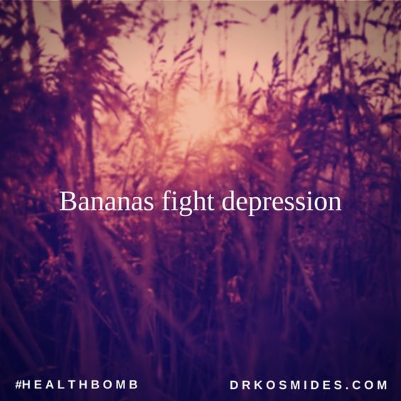 Bananas fight depression