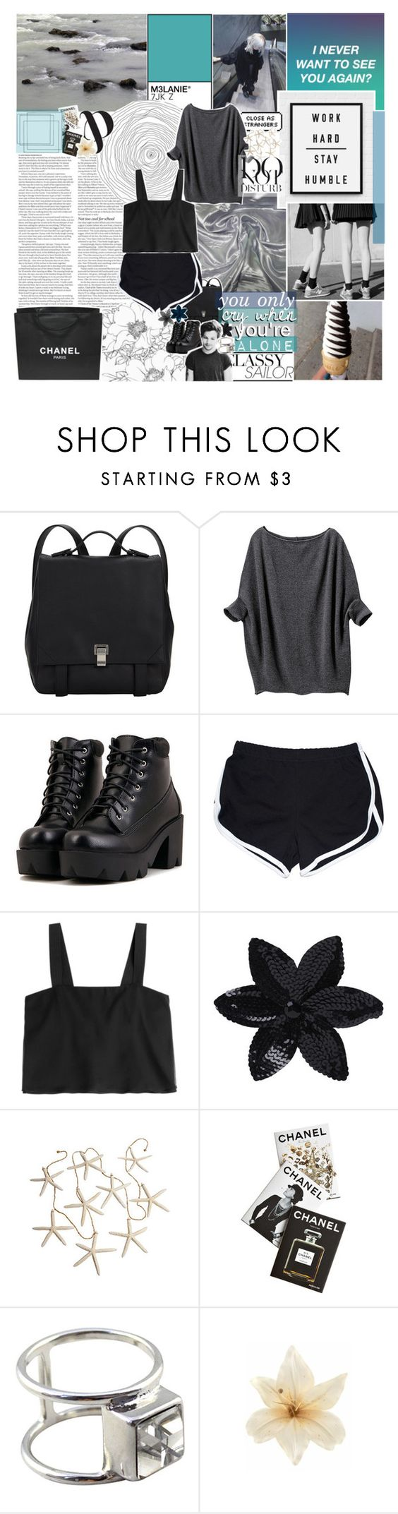 """DON'T NEED AN APOLOGY"" by pheachy ❤ liked on Polyvore featuring ASOS, Chanel, Krystal, Proenza Schouler, Uniqlo, 3.1 Phillip Lim, Assouline Publishing, Anja and Clips"