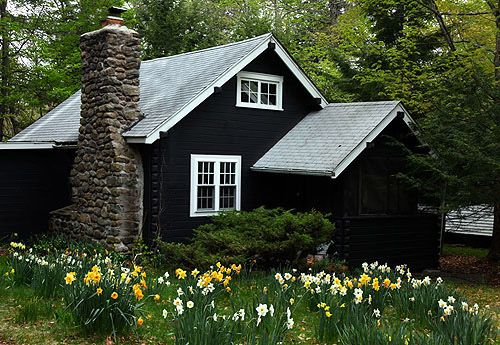 Low Maintenance Exterior House Material : Ideas about black house on pinterest