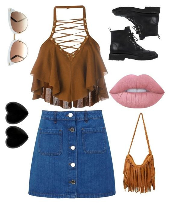 """Untitled #78"" by ebonymcrae on Polyvore featuring Balmain, Miss Selfridge, Gucci, Lime Crime, Giuseppe Zanotti and Dollydagger"
