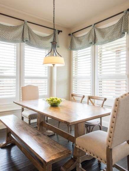 57 Idées De Ferme Rideaux Rideaux De Cuisine Idées De Cantonnière Pour 2019 Dining Room Window Treatments Dining Room Windows Kitchen Window Valances