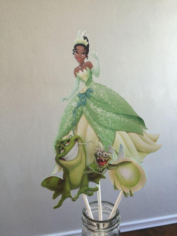 Disney princesa centro de mesa cumpleaños por TheresasPaperCrafts