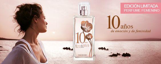 ¿Sabías que ...? Comme Une Evidence perfume emblemático, celebra 10 años de emoción. Yves Rocher creado un bonito colector edición limitada, un nuevo envase decorado con flores con reflejos en cobre.