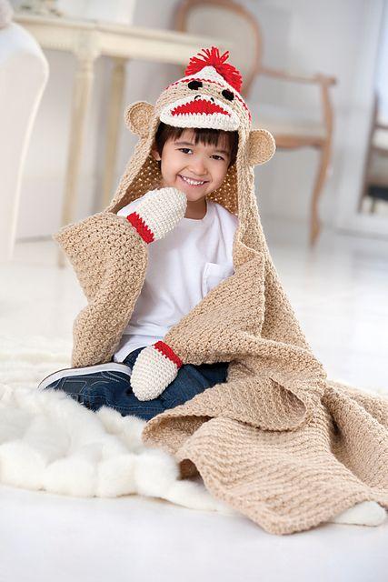 Ravelry: Sock Monkey Blanket pattern by Linda Cyr