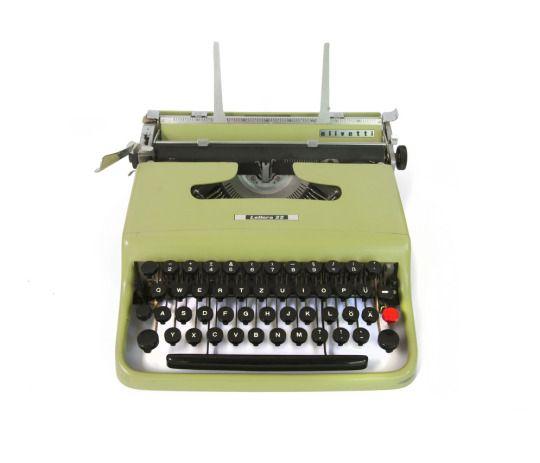 Marcello Nizzoli, portable typewriter Olivetti lettera 22, designed in 1949.  Compasso d'Oro prize in 1954.