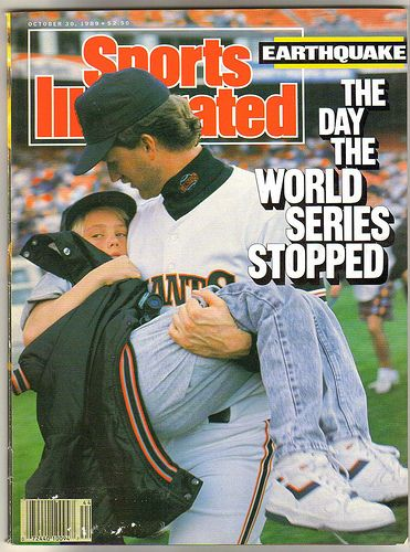 I remember seeing this happen live on TV in '89... a World Series baseball game was just about to start in San Francisco, when an earthquake struck the city.