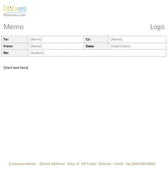 Trip Report Memo Template With a Table Format Stuff to Buy - credit memo templates