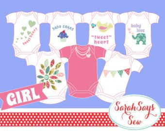 Baby One Piece Decorating Party DIY Baby Shower por BeauTiedAffair