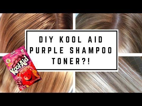 Diy Kool Aid Purple Shampoo Toner Youtube Purple Shampoo