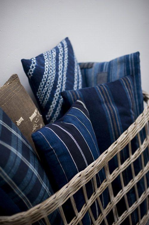 Japanese blue pillows...
