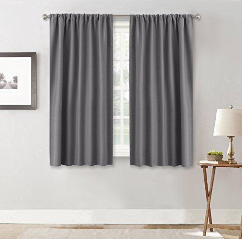Ryb Home Gray Blackout Curtains For Kitchen 42 W By 45 Https