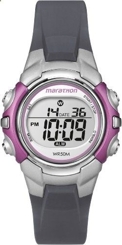 Timex Women's T5K646M6 Marathon Digital Display Quartz Grey Watch. Go to the website to read more description.