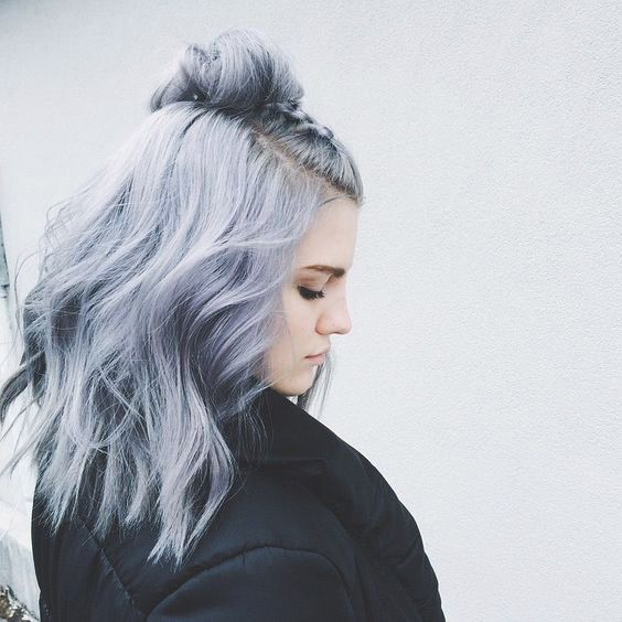 A Millennial's Guide to Gray Hair Dye | Blue Gray | Hairstyle on Point