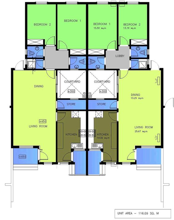 House plans for 2 bedroom semi detached bungalow google for House plans semi detached