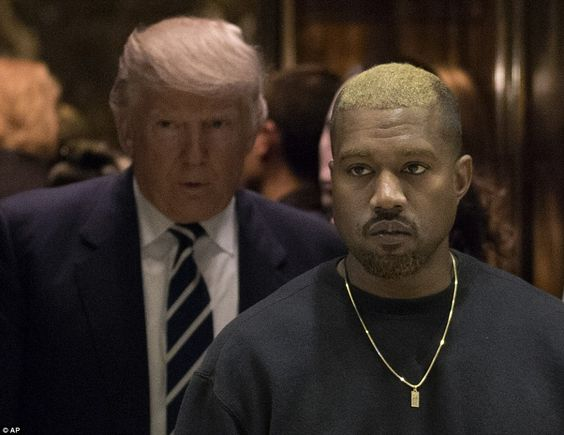 Looking for all my real friends: Kanye West and the president-elect shared an elevator to ...