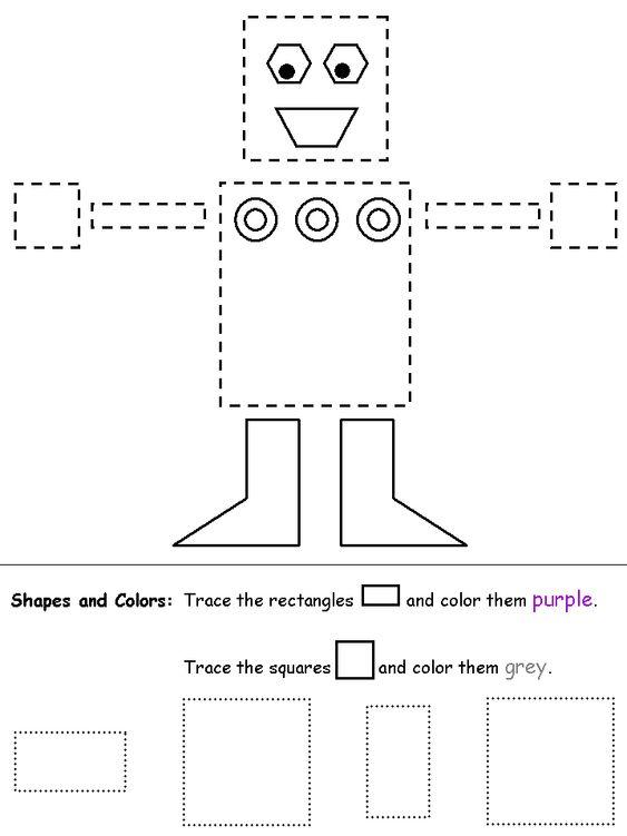 Amazing Shapes tracing sheets!!   Preschool   Pinterest   Shape ...