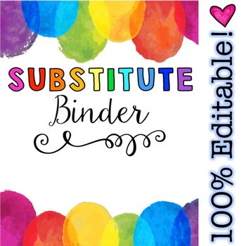 Being gone from school is tough enough as it is so do yourself a favor and  check out THE BEST Sub Binder on TPT!  Make life easier, save yourself TONS of time and stress, and ensure that your sweet class and brave guest teacher have an amazing day even when you're away.